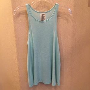 FREE PEOPLE Baby Blue Ribbed Tank Top Small